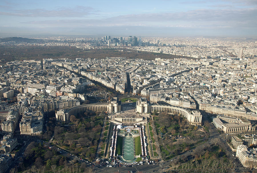 View Over Trocadero From Eiffel Tower. Paris Photograph  - View Over Trocadero From Eiffel Tower. Paris Fine Art Print