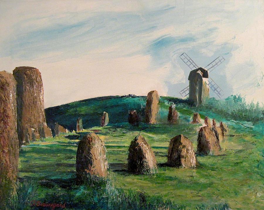 Viking Graveyard Painting