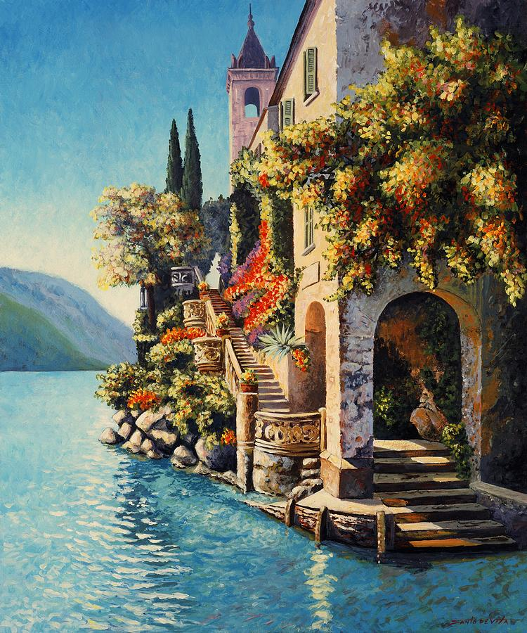 Villa Balbianello Lake Como Painting