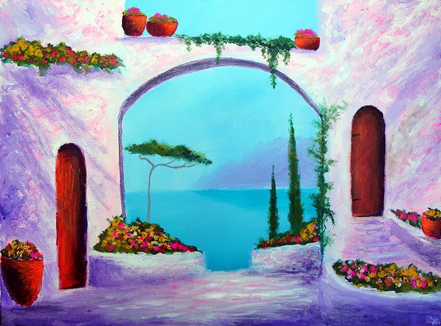 Villa Gardens Of The Mediterranean Painting