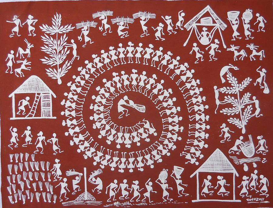Warli Paintings Siva Travelogue
