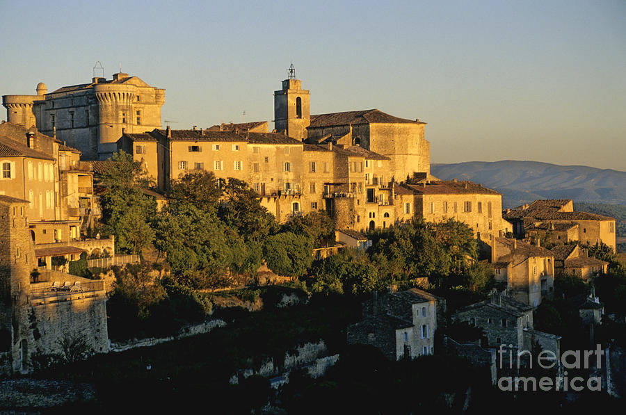 Village De Gordes. Vaucluse. France. Europe Photograph  - Village De Gordes. Vaucluse. France. Europe Fine Art Print