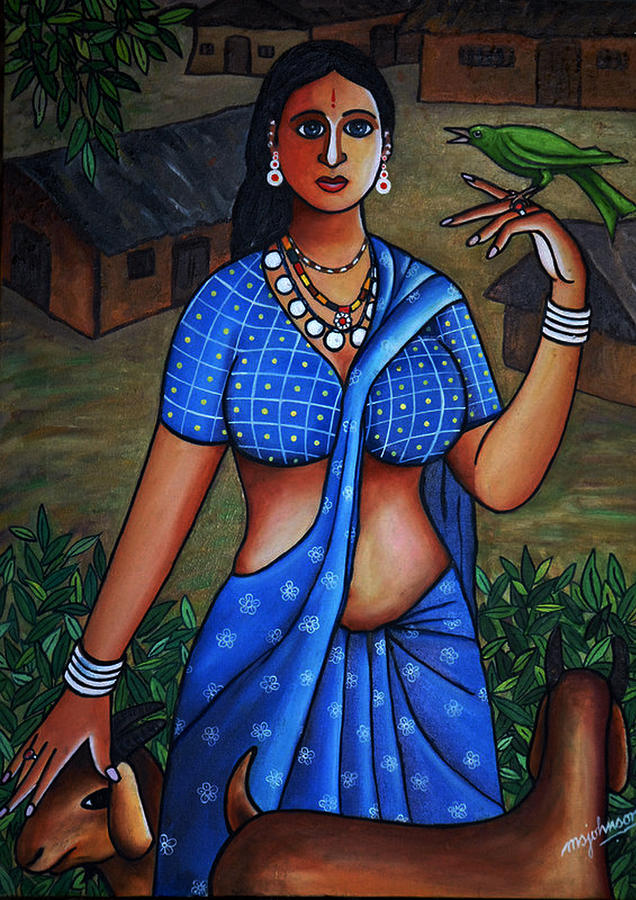 Village Girl Painting