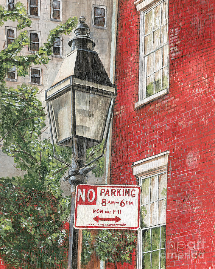 Nyc Painting - Village Lamplight by Debbie DeWitt