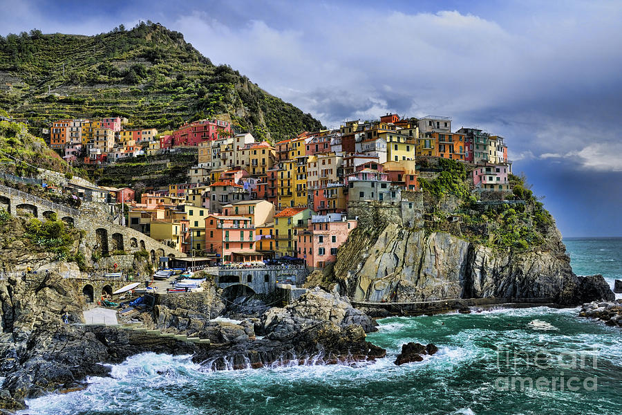 Village Of Manarola - Cinque Terre - Italy Photograph