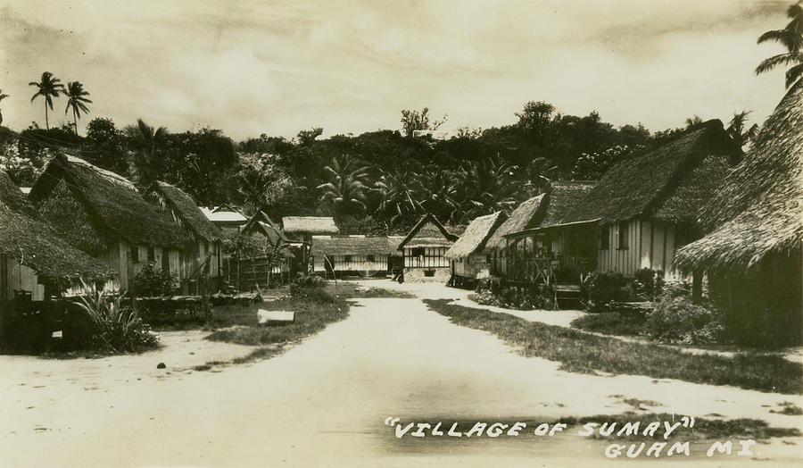 Village Of Sumay Guam Photograph  - Village Of Sumay Guam Fine Art Print