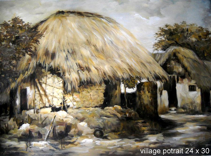 Village Portrait Paintingroy village