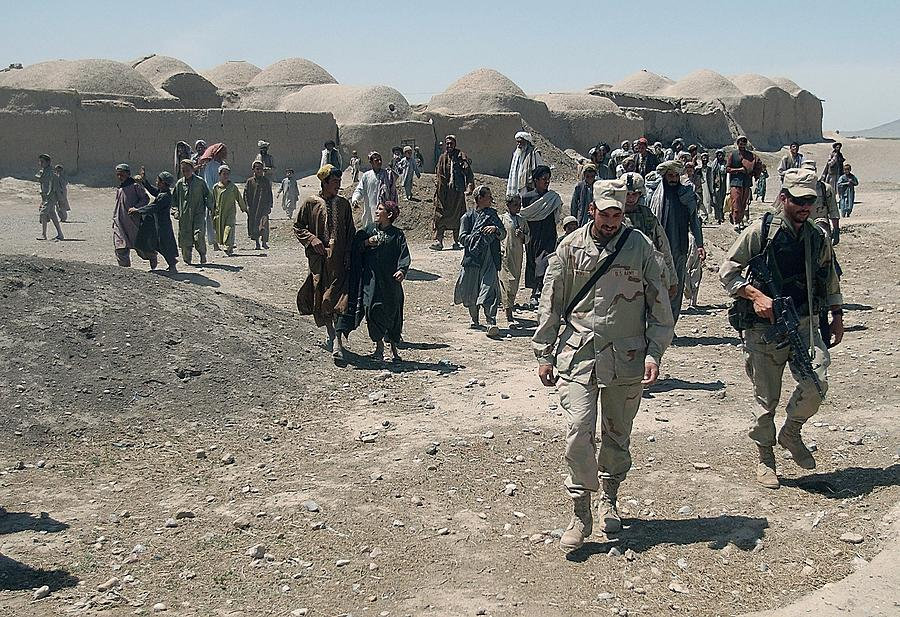 Villagers From Nojoy Outside Kandahar Photograph