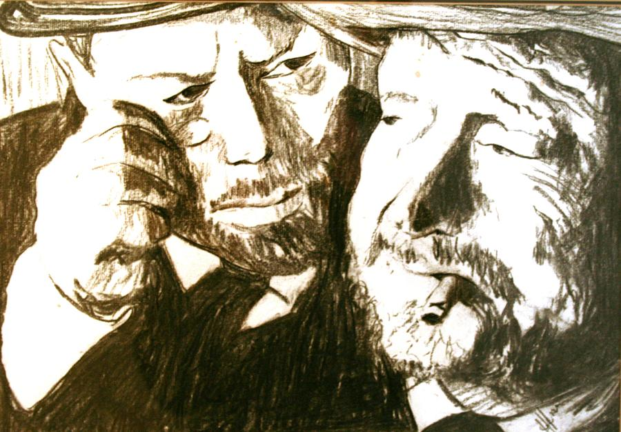 Vincent And Douglas Drawing  - Vincent And Douglas Fine Art Print