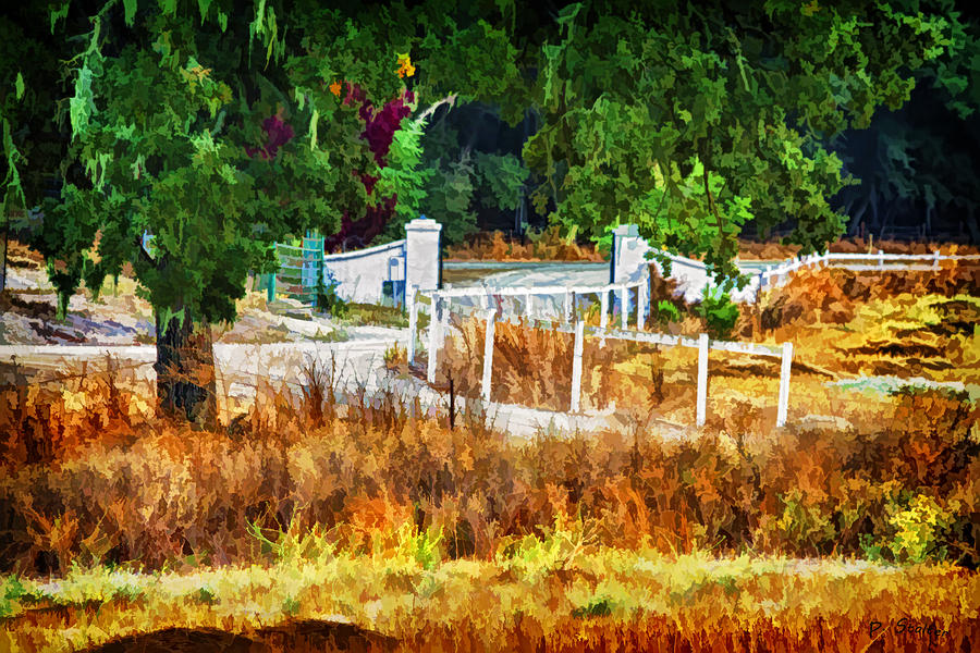 Vineyard Gate Digital Art  - Vineyard Gate Fine Art Print