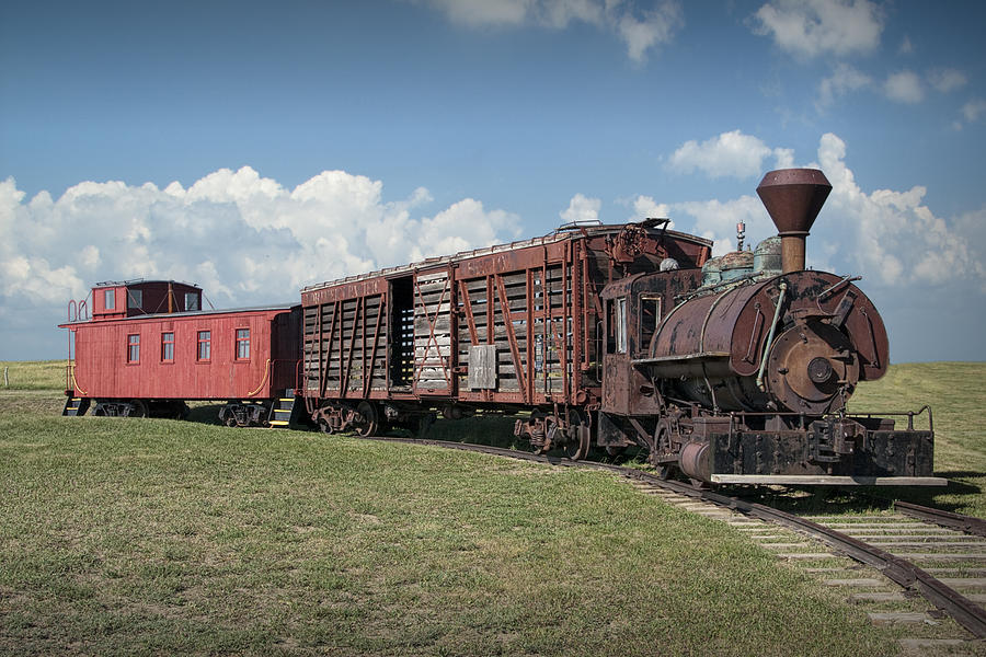 Vintage 1880 Locomotive Train No 1027 Photograph By