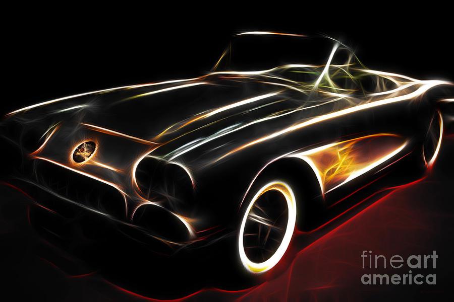 Vintage 1956 Corvette Photograph