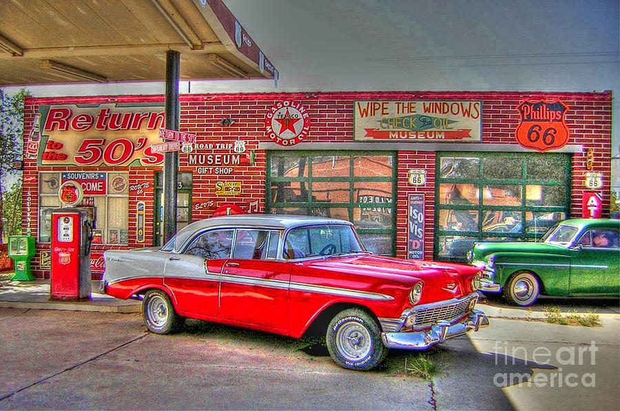 Vintage 50s Route 66 Photograph