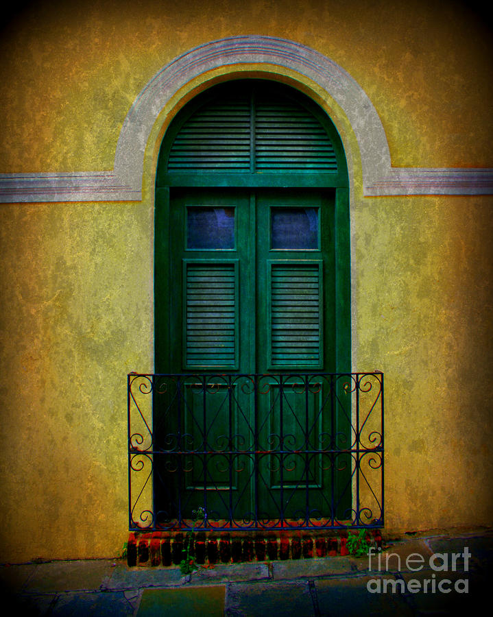 Vintage Arched Door Photograph