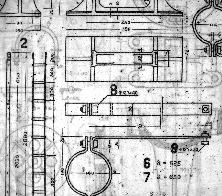 Vintage Blueprints Photograph  - Vintage Blueprints Fine Art Print