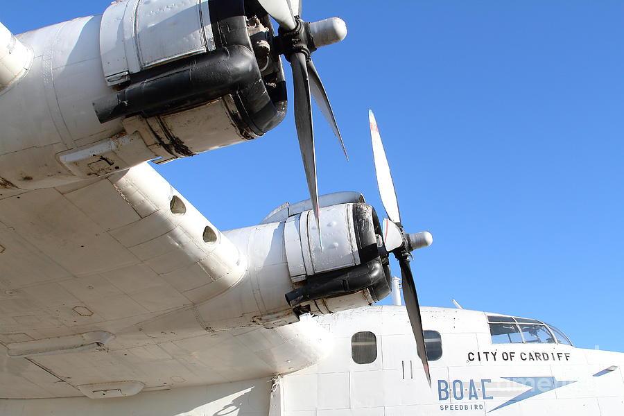 Vintage Boac British Overseas Airways Corporation Speedbird Flying Boat . 7d11265 Photograph