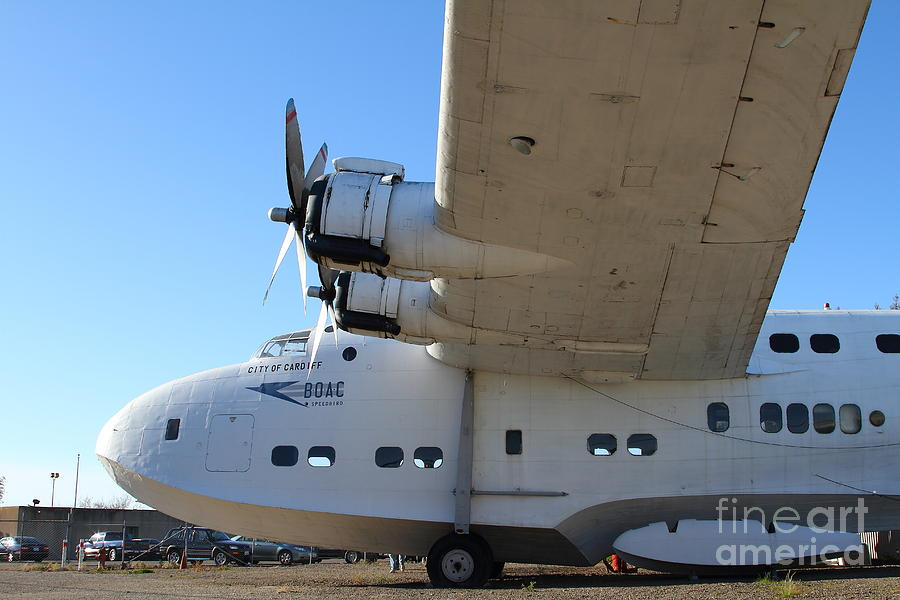 Vintage Boac British Overseas Airways Corporation Speedbird Flying Boat . 7d11291 Photograph by ...