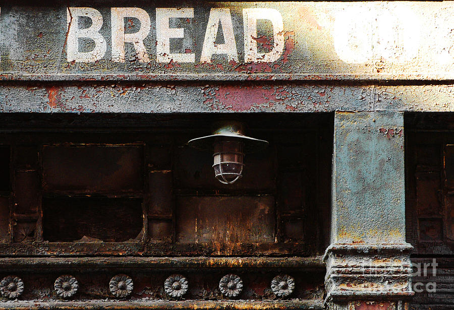 Vintage Bread Sign Photograph