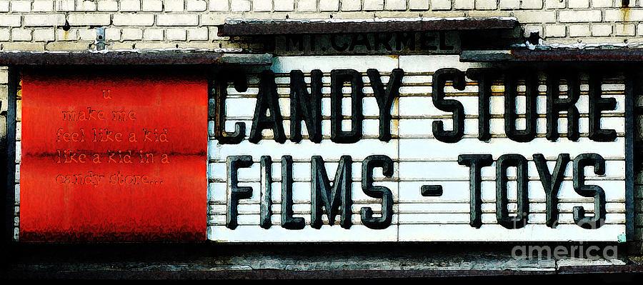 Vintage Candy Store Digital Art