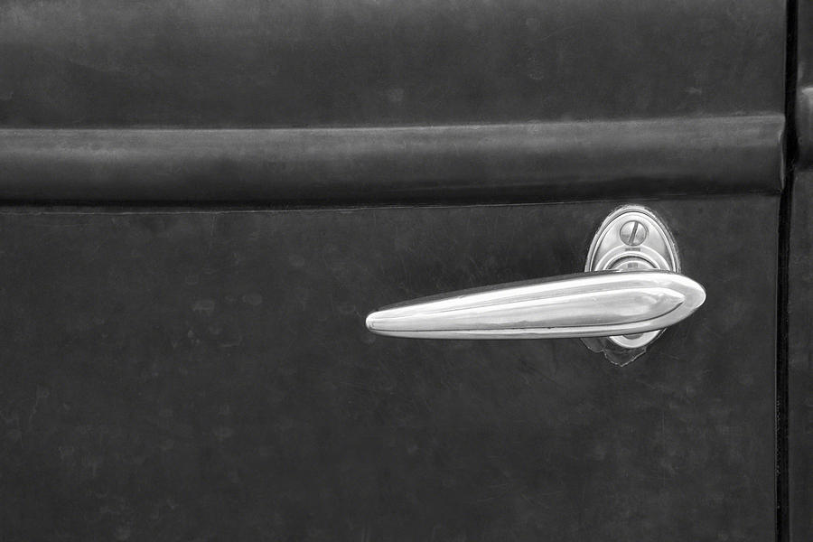 Vintage Car Door Handle Photograph by Ramona