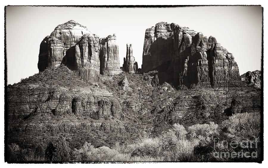 Vintage Cathedral Rock Photograph  - Vintage Cathedral Rock Fine Art Print