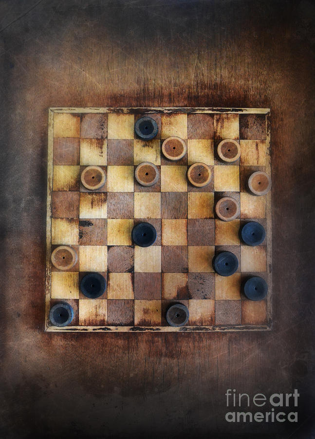 Vintage Checkers Game Photograph  - Vintage Checkers Game Fine Art Print