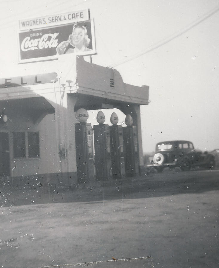 Vintage Coca Cola And Gas Photograph
