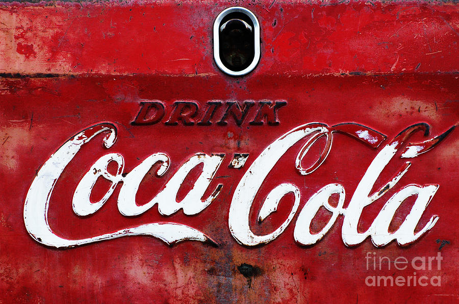 Vintage Coca Cola Sign Photograph  - Vintage Coca Cola Sign Fine Art Print