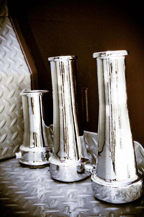 Vintage Fire Hose Nozzles Photograph