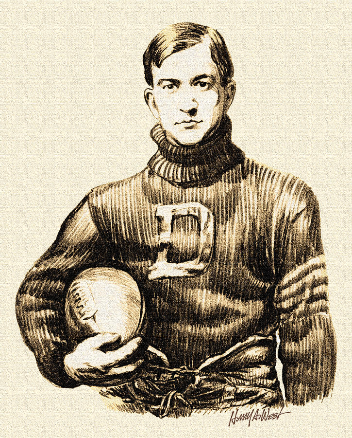 Vintage Football Drawing