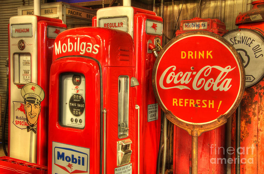 Vintage Gasoline Pumps 2 Photograph