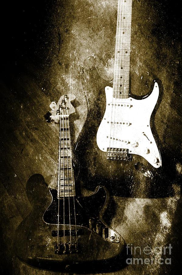Vintage Guitars Photograph