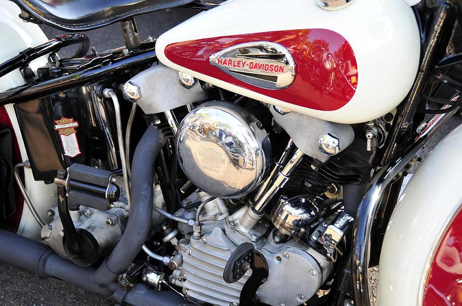 Vintage Harley V Twin Photograph