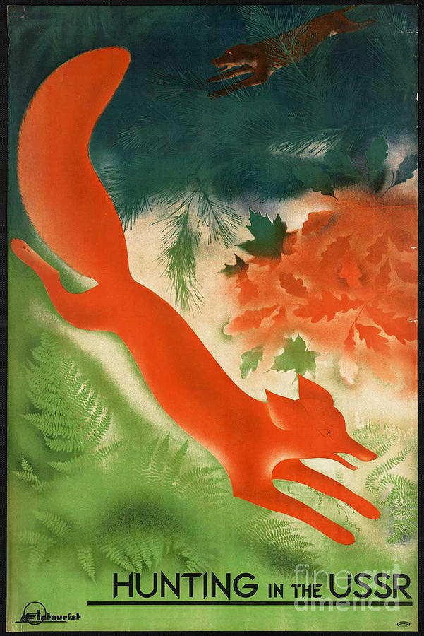 Vintage Hunting In The Ussr Travel Poster Photograph