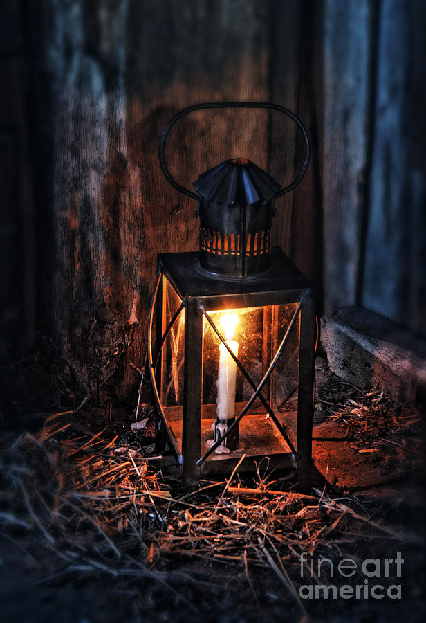 Vintage Lantern In A Barn Photograph