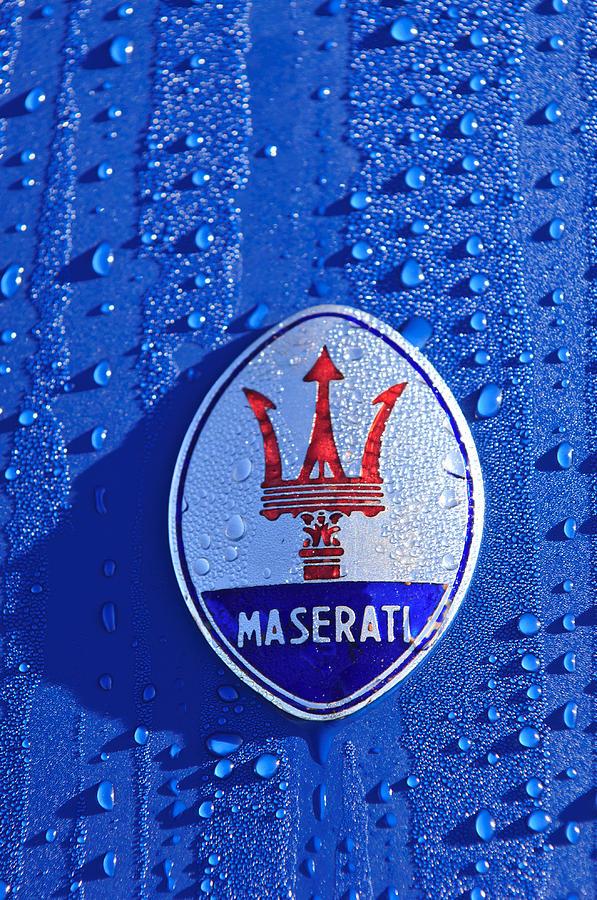 Vintage Maserati Hood Ornament Emblem Photograph