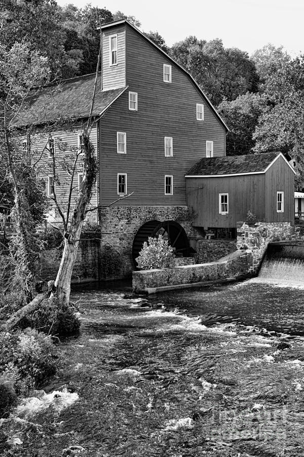 Paul Ward Photograph - Vintage Mill In Black And White by Paul Ward