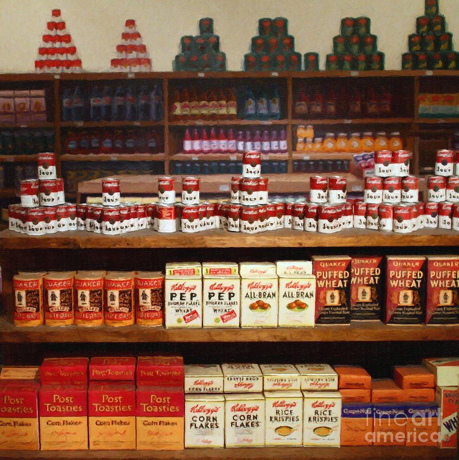 Vintage Mom And Pop Grocery Store - 7d17402 Photograph  - Vintage Mom And Pop Grocery Store - 7d17402 Fine Art Print