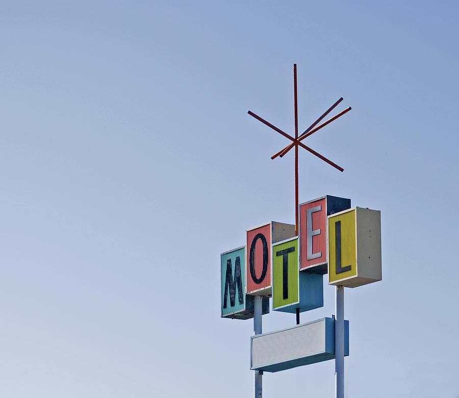 Vintage Motel Sign Photograph By Loree Johnson