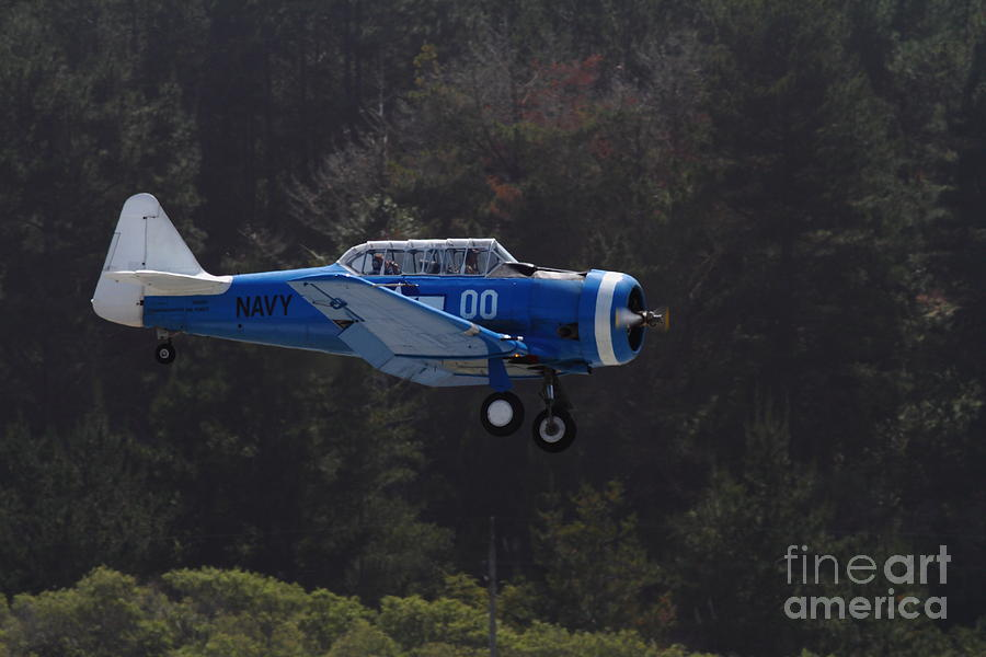 Vintage North American Snj-4 Us Navy Aircraft . 7d15627 Photograph  - Vintage North American Snj-4 Us Navy Aircraft . 7d15627 Fine Art Print