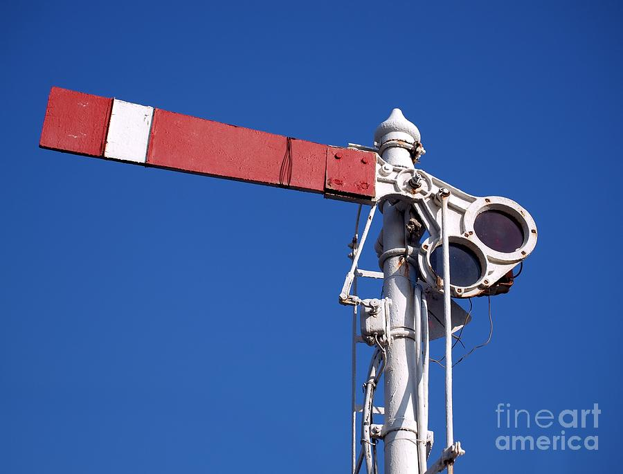 Vintage Old Train Signal Photograph  - Vintage Old Train Signal Fine Art Print