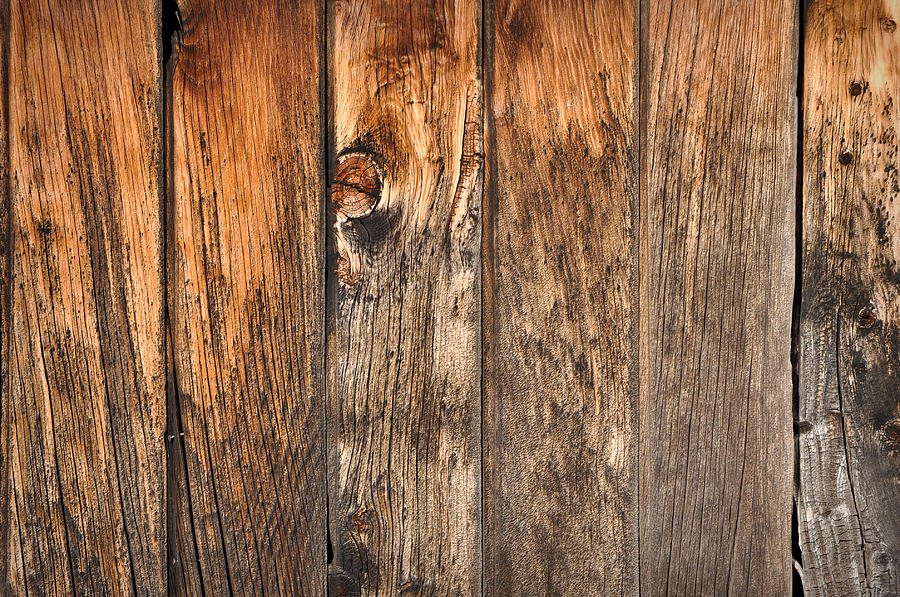 Vintage Old Wood Background Photograph by Brandon Bourdages