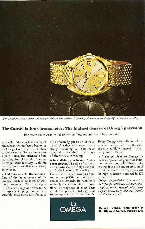 Omega Digital Art - Vintage Omega Watch by Georgia Fowler