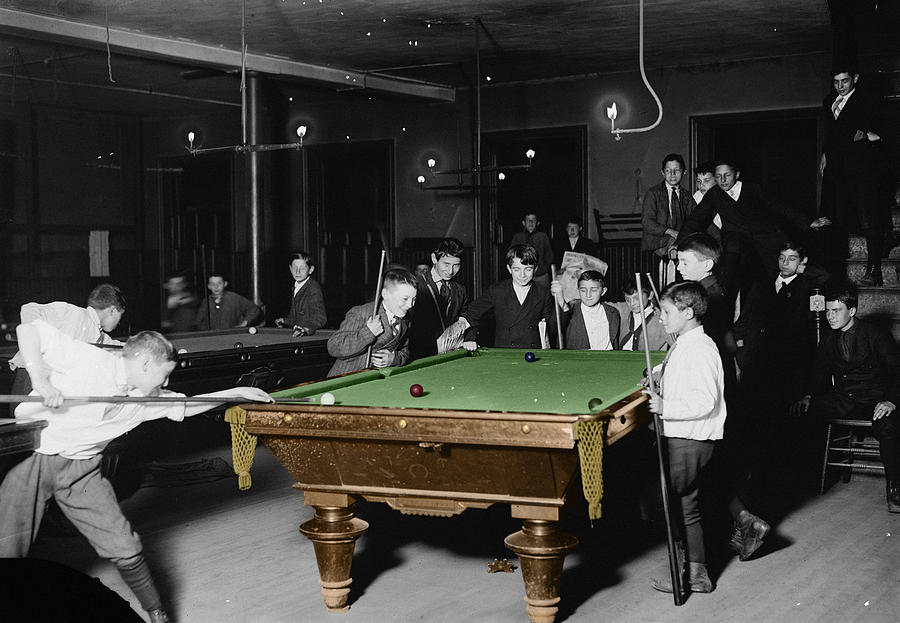 Vintage Pool Hall Photograph  - Vintage Pool Hall Fine Art Print