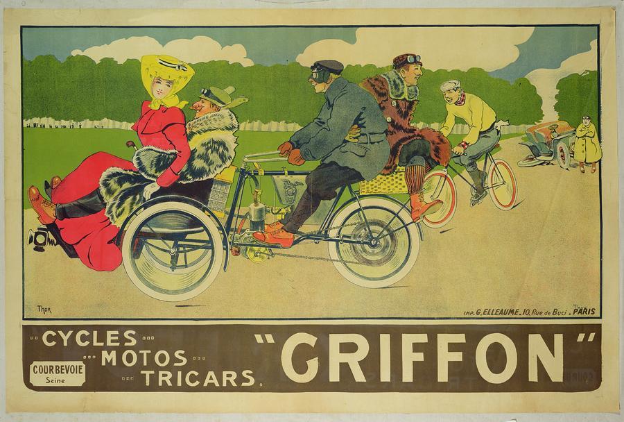 Vintage Poster Bicycle Advertisement Painting