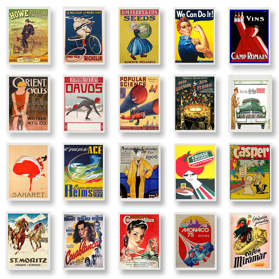 Vintage Poster Collections 02 Digital Art  - Vintage Poster Collections 02 Fine Art Print