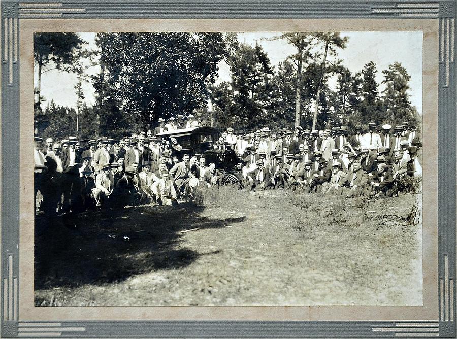 Vintage Railroad Gathering Photograph