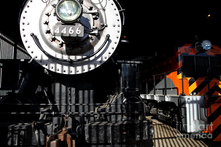 Vintage Railroad Locomotive Trains In The Train House . 7d11633 Photograph