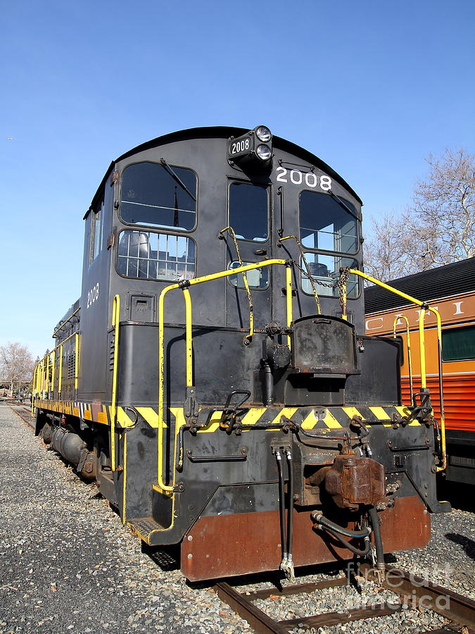 Vintage Railroad Trains In Old Sacramento California . 7d11591 Photograph