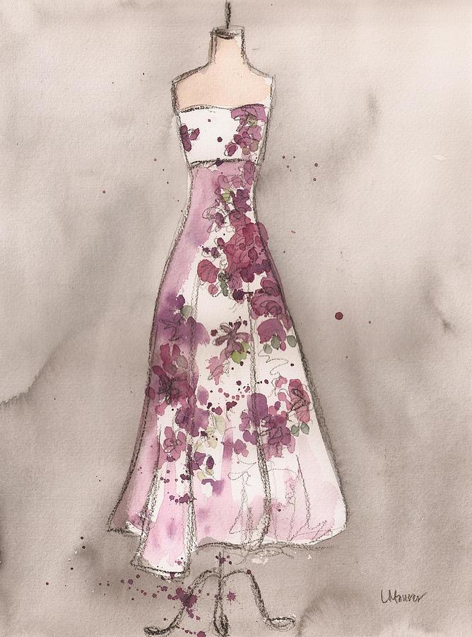 Vintage Romance Dress Painting